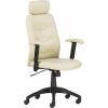 """. Főnöki szék, műbőrborítás, fekete lábkereszt, """"PHILADELPHIA"""", bézs"""