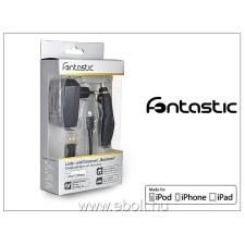 Fontastic Apple iPhone 5/5S/5C/SE/6S/6S Plus Lightning töltő szett - USB+hálózati+szivargyújtó töltő - fekete (Apple MFI engedélyes)- 5V/1A- fekete tok és táska