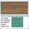 Forest Munkalap vízzáró profil H1151 ST10 Authentic Oak Brown