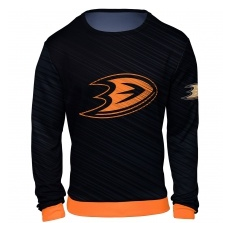 FOREVER Collectibles™ Anaheim Ducks fĂŠrfi pulóver black NHL Static Rain - XXL,(USA)