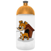 "FREEWATER Kulacs, higiénikus műanyagból, 0,5L, FREEWATER ""Kutyus"", átlátszó"