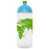 """FREEWATER Kulacs, higiénikus műanyagból, 0,7L,  """"Világtérkép"""", átlátszó"""