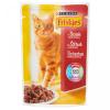 Friskies alutasakos macskaeledel 100 g marhával szószban