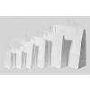 . Füles papírtasak, sodrott füles, fehér, 32x12x41 cm