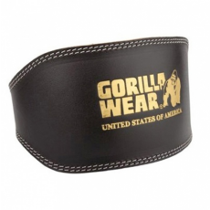 FULL LEATHER PADDED BELT (BLACK) [L/XL]