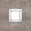 Fumagalli LETI 100 SQUARE süllyeszett panellámpa  GX53  fehér test - opál üveg  3000K (Panellámpa)