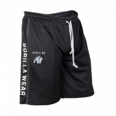 FUNCTIONAL MESH SHORTS (BLACK/WHITE) [S/M]