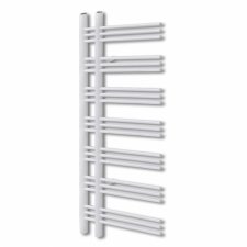 Fürdőszobai törölközőszárító radiátor központi fűtéssel E alakú 500 x 1400 mm fűtőtest, radiátor