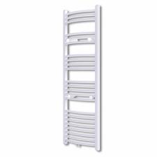 Fürdőszobai törölközőszárító radiátor központi fűtéssel oldalsó és középső csatlakozóval ívelt 500 x 1424 mm fűtőtest, radiátor