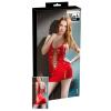 Fűzős lakk miniruha (piros)