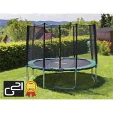 G21 trambulin biztonsági hálóval 305 cm, zöld trambulin szett