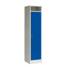 Gabriel hegesztett gyűjtő szekrény, 1 részes, hengerzár, szürke/kék