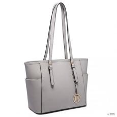 Gant Miss Lulu London LM1642-1 - Miss Lulu szintetikus bőr állítható fogantyú bevásárló táska táska világos szürke