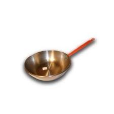 Garcima 30 cm-es polírozott nyeles mély serpenyő, szeletsütő edény