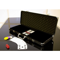 Garthen Alumínium bőrönd 500 pókerzsetonhoz + kiegészítők