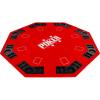 Garthen Kihajtható nyolcszögletű póker asztallap - piros