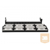 Gembird 19'' patch panel 48 port 2U cat.5e with rear cable management, black