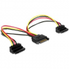 Gembird Cableexpert Gembird SATA táp 2x SATA 90, splitter, 0,15 m