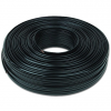 Gembird flat telephone cable stranded 6-wire 100m, black