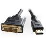 Gembird HDMI / DVI apa-apa kábel aranyozott csatlakozóval  7.5m  bulk