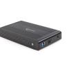 Gembird külső USB 3.0 ház 3.5' SATA HDD-re, alumínium, fekete