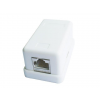 Gembird single port surface mount box 1xRJ45 cat.5 half-shielded keystone, white