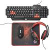 Gembird Ultimate 4-in-1 Gaming kit USB angol gaming billentyűzet + egér fekete
