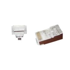 Gembird Universal pass-through modular FTP plug 8P8C, 100 pcs per bag kábel és adapter