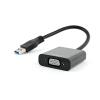 Gembird USB 3.0 to VGA video adapter, black, blister