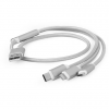 Gembird USB charging combo 3-in-1 cable, silver, 1m