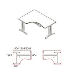 GI-160/120-B-LUX íróasztal