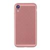 Gigapack Apple iPhone XR műanyag telefonvédő (gumírozott, lyukacsos minta, rozéarany)