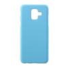 Gigapack Samsung Galaxy A6 műanyag telefonvédő (gumírozott, világoskék)