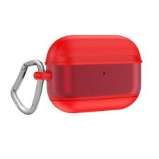 Gigapack Szilikon tok (közepesen ütésálló + karabíner) piros apple airpods pro tok és táska