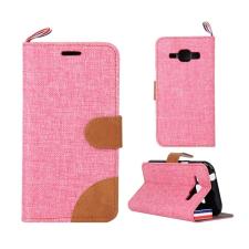 Gigapack Tok álló, textil (flip, oldalra nyíló, asztali tartó funkció) rózsaszín tok és táska
