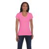 GILDAN női v-nyakú póló, azalea