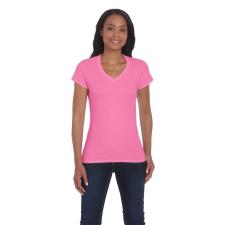 GILDAN női v-nyakú póló, azalea női póló