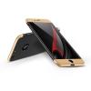 GKK Apple iPhone 7 Plus hátlap - GKK 360 Full Protection 3in1 - Logo - fekete/arany