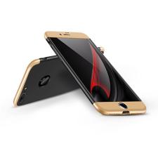 GKK Apple iPhone 7 Plus hátlap - GKK 360 Full Protection 3in1 - Logo - fekete/arany tok és táska