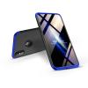 GKK Apple iPhone XS Max hátlap - GKK 360 Full Protection 3in1 - Logo - fekete/kék