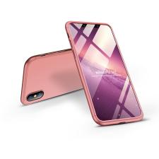 GKK Apple iPhone XS Max hátlap - GKK 360 Full Protection 3in1 - rose gold tok és táska