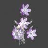 GLOBO 5147 - PURPLE fali lámpa 1xE14/40W