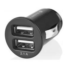 GoGEN CH 21 Autós mobiltöltő, 2 x USB port, Fekete gps kellék
