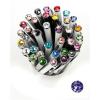 """. Golyóstoll, Crystals from SWAROVSKI®, fehér, 14cm""""Elegante"""", tanzanite lila kristállyal"""