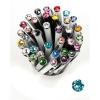 "Golyóstoll, Crystals from SWAROVSKI®, fekete,  14cm""Elegante"", light türkiz kristállyal"