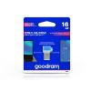 Goodram 16 GB OTG Flash Drive pendrive USB Type-A + USB Type-C csatlakozóval - Goodram ODD3 USB 3.0 - kék