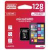 Goodram microSDHC 128GB Class 10 memóriakártya SD adapterrel Artisjus matricával - M1AA-1280R11