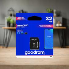 Goodram microSDHC 32GB Class 10 memóriakártya SD adapterrel, Artisjus matricával memóriakártya