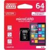 Goodram microSDHC 64GB Class 10 memóriakártya SD adapterrel Artisjus matricával - M1AA-0640R11