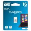 """Goodram Pendrive, 16GB, USB 2.0, 20/5Mb/sec, mini, GOODRAM """"UPI2"""", fehér"""